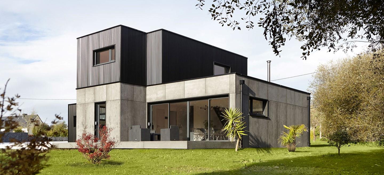 Image de maison modulaire en bois réalisée par la société Maison E-loft