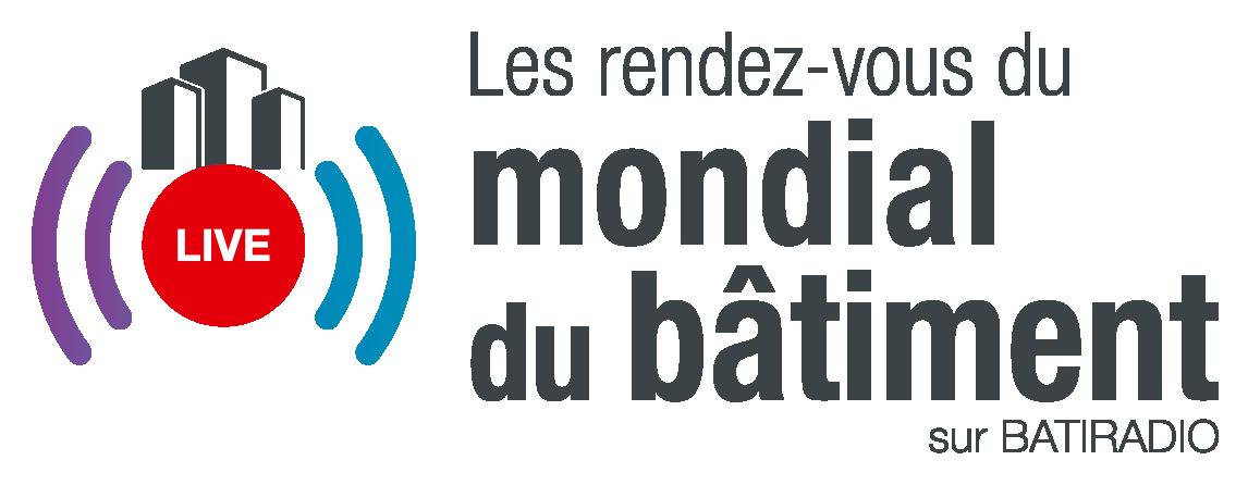 Logo de l'émission de web radio les Rendez-vous du Mondial du bâtiment